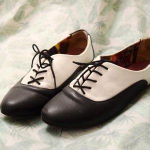 Shoes - ❤️ Super Comfy Faux Leather Oxford Ballet Flats